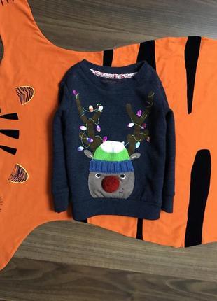 Новогодний свитер 1.5-2 года, рост 86-92