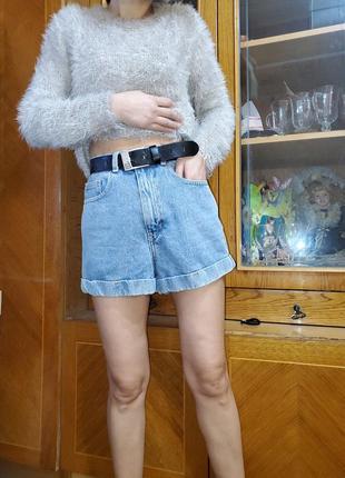 Шорты винтажные мом высокая посадка талия american apparel  оригинал винтаж ретро