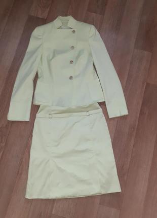 Люкс бренд костюм пиджак юбка akris /размер s