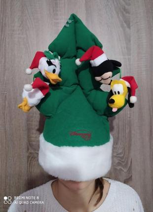 Новогодняя шапка -елка с игрушками