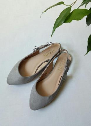 Стильные офисные туфли с открытой пяткой