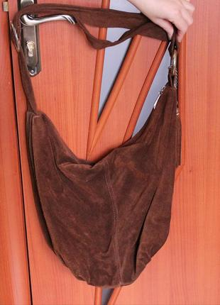 Идеальная сумка из натуральной замши sale