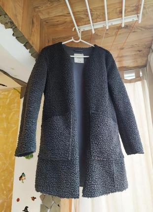 Пальто pull&bear дубленка размер m