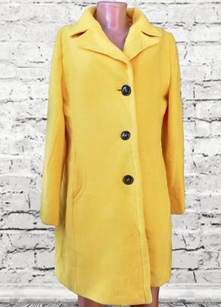 Фирменное яркое желтое пальто gil bret / деми / шерсть/ кашемир gil bret