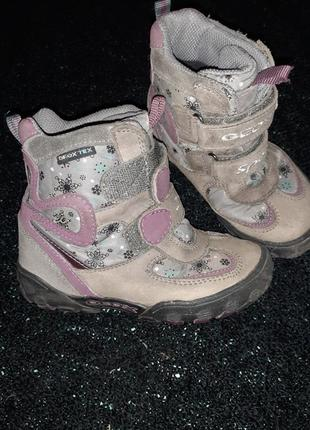 Термо черевики для діачинки geox gore-tex