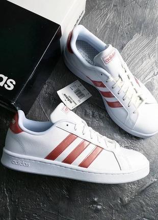 Adidas оригинал белые кожаные кеды