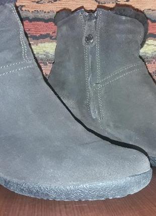 Ботинки натуральная замша geox 37-38 р. хорошее состояние