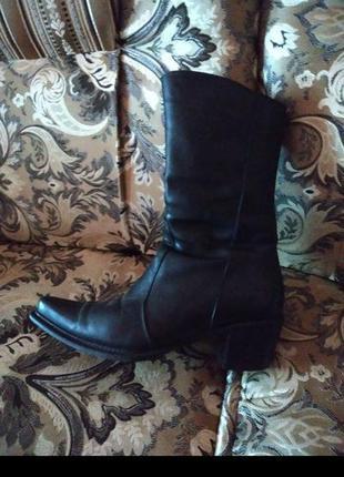 Шкіряні чоботи зимові