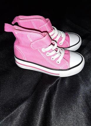 Кеды высокие конверсы аналог розовые кеды кроссовки для девочки