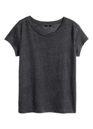 Классная льняная футболка от h&m, р. s