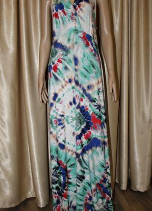 Красивое трикотажное  вискозное платье в пол