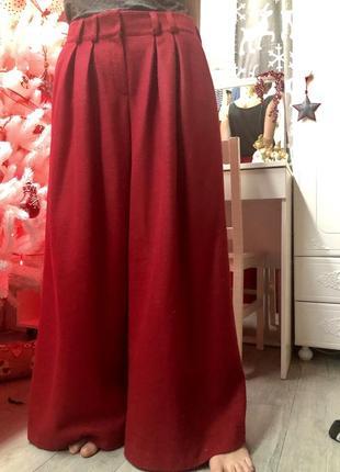 Шерстяные брюки - юбка