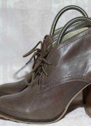 Шикарные кожаные  ботинки, ботильоны taupade