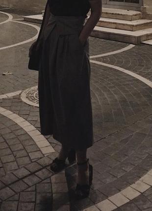 Новые брюки кюлоты с красивым поясом zara