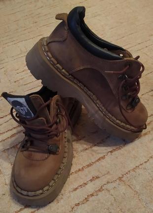 Ботинки ugly shoes нубук в стиле тимберлендов