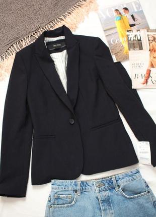 Синий пиджак зара новый классический  пиджак zara 38 размер м