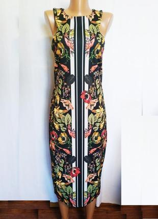 Платье женское эффектное, черное стройное next tall