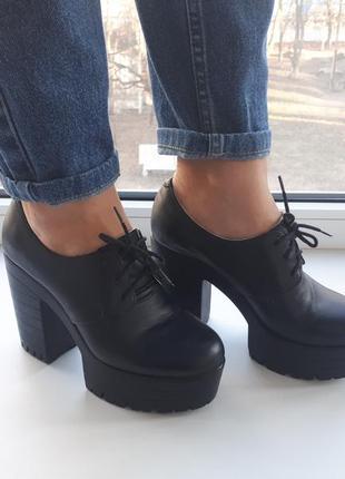 Туфли на тракторный подошве