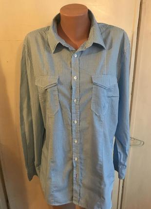 Класна сорочка до джинсів розмір 48-50