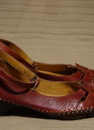 Изящные комбинированные кожаные туфельки pikolinos испания 38 р.