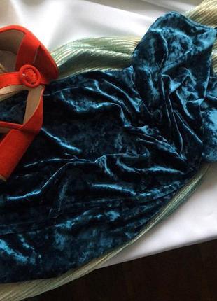 Бархатна сукня на запах new look 8/36