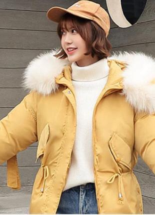 Куртка оверсайз зимняя теплая