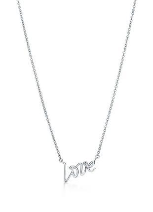 Tiffany & co. кулон подвеска «love» оригинал