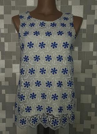 Женская ажурная летняя блуза