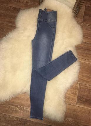 Классный джинсы с завышенной талией привезены из европы