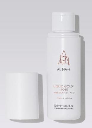 Alpha-h liquid gold rose лимитированный выпуск пилинг для лица 100 мл