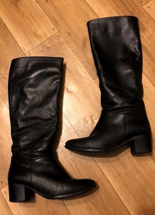 Зимние кожаные сапоги еврозима