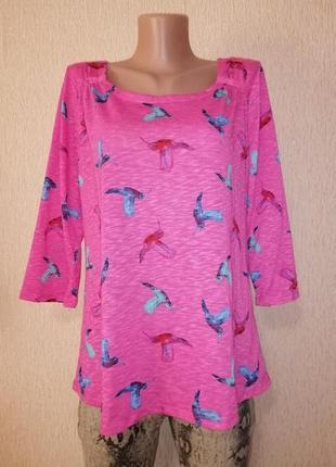 🔥🔥🔥стильная яркая женская трикотажная кофта, блузка, джемпер 16 р. marks & spencer🔥🔥🔥