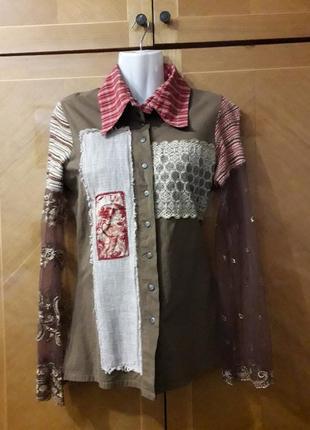 Save the queen  рубашка из различных фактур  тканей италия