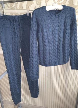 Распродажа! шикарный тёплый прогулочный спортивный костюм1 фото