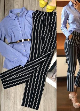 Классический лук брюки с рубашкой s