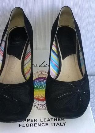 Туфли замшевые polivi