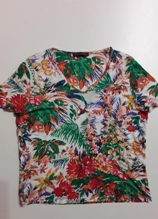 Фирменная полульняная футболка