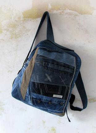 Джинсовый рюкзак 04