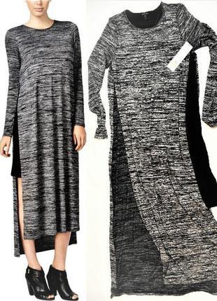 """Двухслойное  платье-туника  почти  макси с разрезами от проймы полномерный""""s""""от 44- 48 р"""