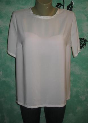 Шикарная шифоновая белая  футболка