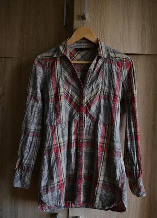 Клетчатая приталенная рубашка dorothy perkins