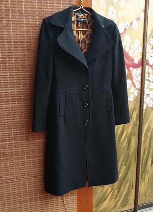 Dolce & gabbana шерстяное дизайнерское пальто
