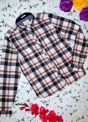 🎁1+1=3 стильная теплая рубашка в клетку fat face, размер 46 - 48