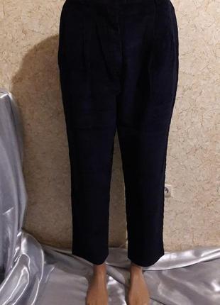 Акция -20% до 27.12 темно-синие вельветовые брюки