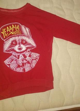 Красный женский свитшот goldi размер xs