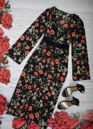 🌿нарядное, эксклюзивное платье на пуговицах в цветочный принт. размер 2xl.🌿