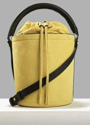 Трендовая сумка-ведёрко, натуральная кожа autograph