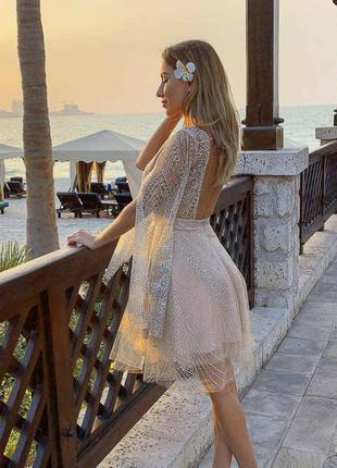 Вечернее платье-миди gepur с открытой спинкой