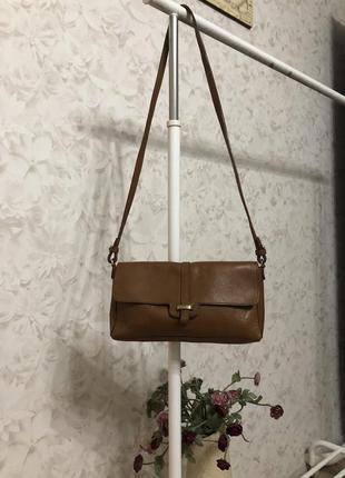 Кожаная сумка крос боди zara!