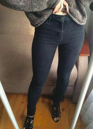 Графитовые джинсы george skinny